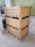 Paletová bedna s víkem žlutá (Pallet box with lid yellow) 1200x800x550